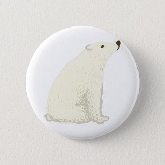 Badge Ours blanc comme symbole canadien national de