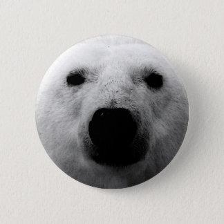 Badge Ours blanc noir et blanc