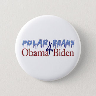 Badge Ours blancs pour Obama Biden 2008