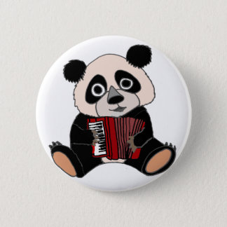 Badge Ours panda drôle jouant l'accordéon