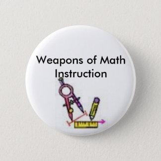 Badge outils de maths, armes de l'instruction de maths
