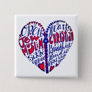 Badge Ouvrez votre coeur à toutes les personnes