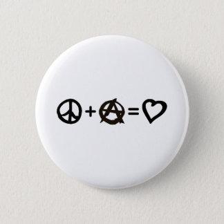 Badge Paix + Anarchie = amour