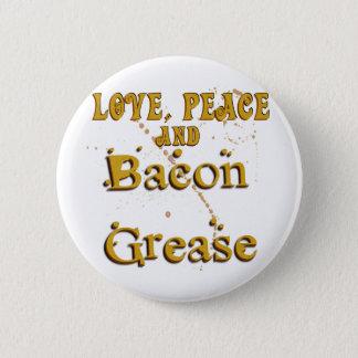Badge Paix d'amour et graisse de lard