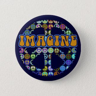 Badge Paix du monde - rétro
