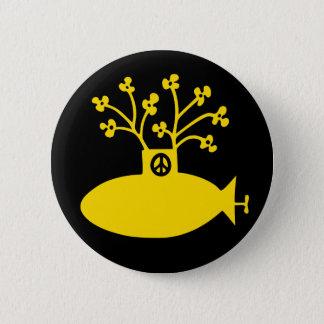 Badge Paix submersible jaune d'années '60