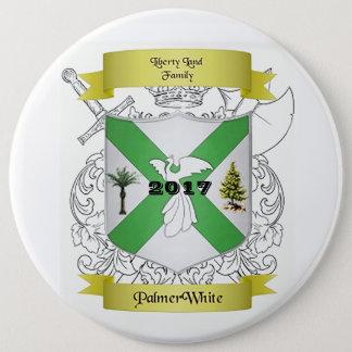 Badge Palmer/bouton blanc de crête de famille
