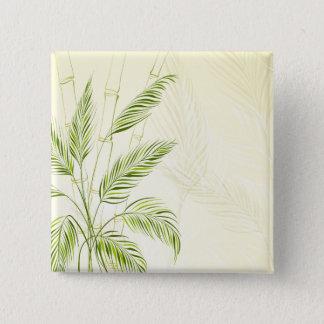 Badge Palmiers sur le bouton en bambou de Pin de la