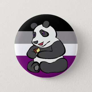 Badge Panda asexuel mangeant le gâteau