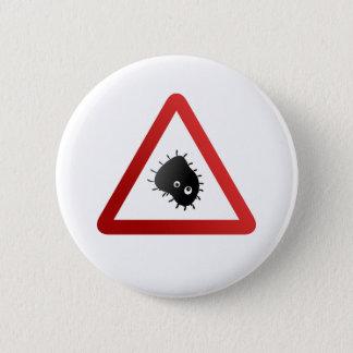 Badge Panneau d'avertissement de bactéries