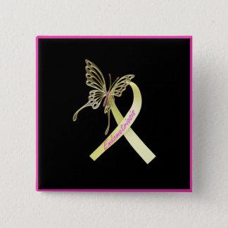Badge Papillon de ruban d'endométriose