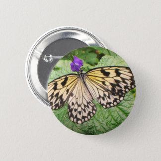 Badge Papillon jaune et noir