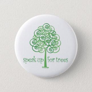 Badge Parlez pour des arbres - arbre Hugger