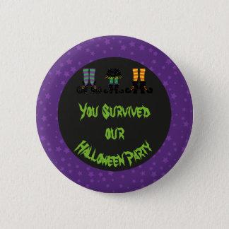 Badge Partie de Halloween de pieds de sorcières