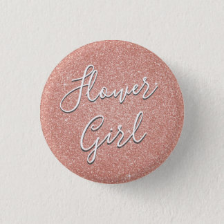 Badge Parties scintillantes d'or de rose de rose et