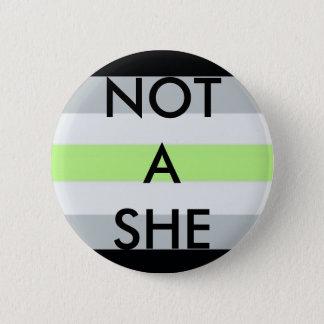 """Badge """"Pas elle"""" se boutonnent"""