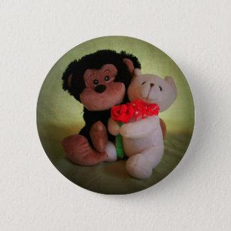 Badge Pas monkey avec mon ours de nounours