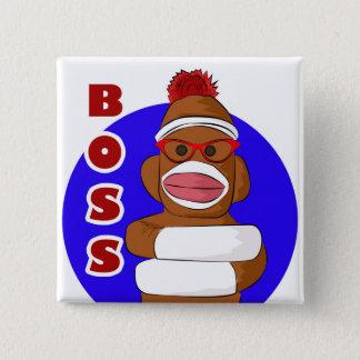 Badge Patron de singe de chaussette