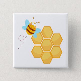 Badge peigne idiot d'abeille et de miel de ruche
