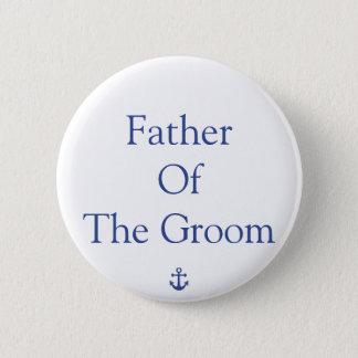 Badge Père des boutons nautiques de mariage de marié