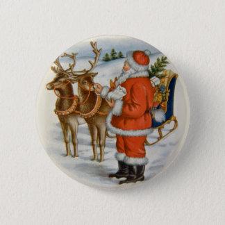 Badge Père Noël avec son renne