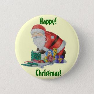 Badge Père Noël mignon enveloppant la conception de Noël