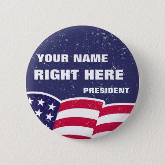 """Badge Personnalisé """"pour le président"""" bouton"""