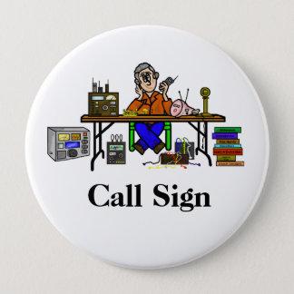Badge Personnaliser de bouton radio de jambon de vendeur