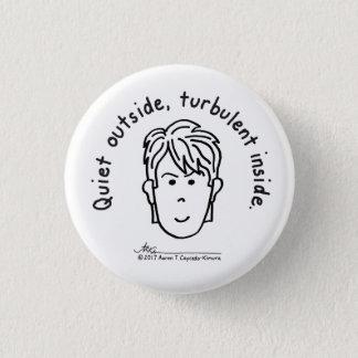 Badge Petit bouton blanc turbulent