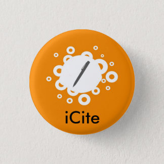 Badge Petit bouton d'iCite orange de sifflement