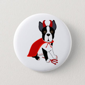 Badge Petit chien de Halloween de diable