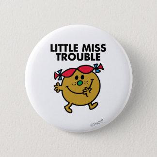 Badge Petit lettrage noir de Mlle Trouble  