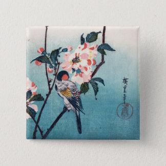 Badge Petit oiseau sur des beaux-arts de Hiroshige de
