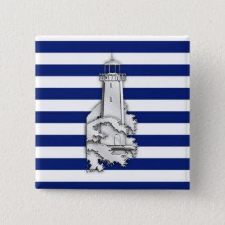 Badge Phare de style de chrome sur les rayures nautiques