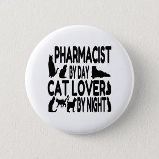 Badge Pharmacien d'amoureux des chats