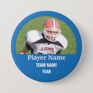 Badge Photo faite sur commande d'équipe de sports - BLEU