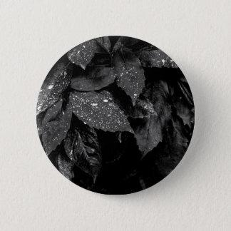 Badge Photo noire et blanche de feuille