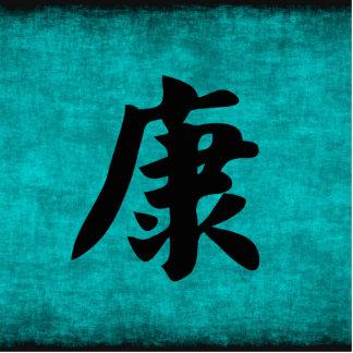 Badge Photo Sculpture Peinture de caractère chinois de santé dans le