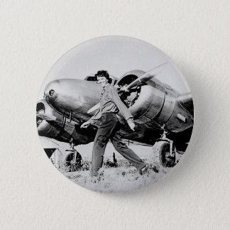 Badge Photo vintage d'Amelia Earhart