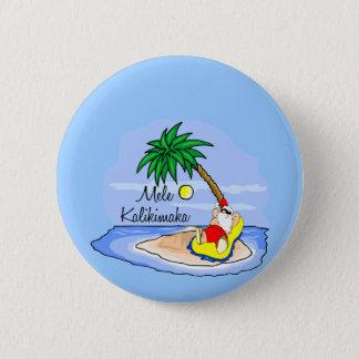 Badge Pièce en t hawaïenne 5 de Noël de se baigner de