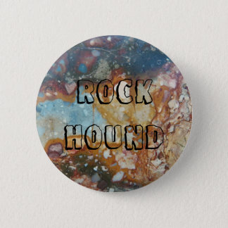 Badge Pierre de jaspe de chien de roche