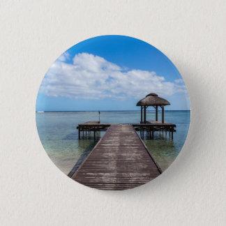 Badge Pilier dans le flac flic îles Maurice d'en d'océan