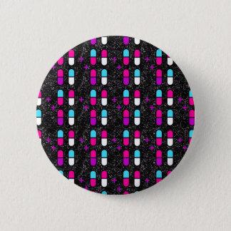 Badge pilules roses de parties scintillantes
