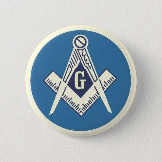 Badge Pin bleu maçonnique de loge