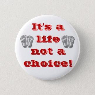 Badge Pin contre l'avortement et l'euthanasie