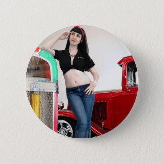 Badge Pin de hot rod de garage de rockabilly vers le