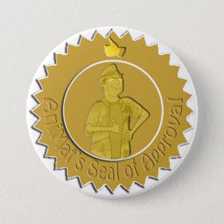 Badge Pin du label d'AniMat (grand)