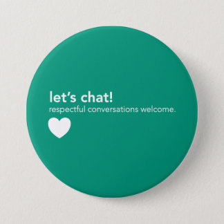 Badge Pin vert de communication - causons