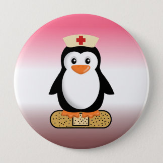Badge Pingouin d'infirmière (w/bandaid)