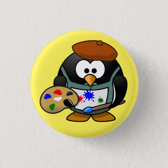 badge pingouin peintre